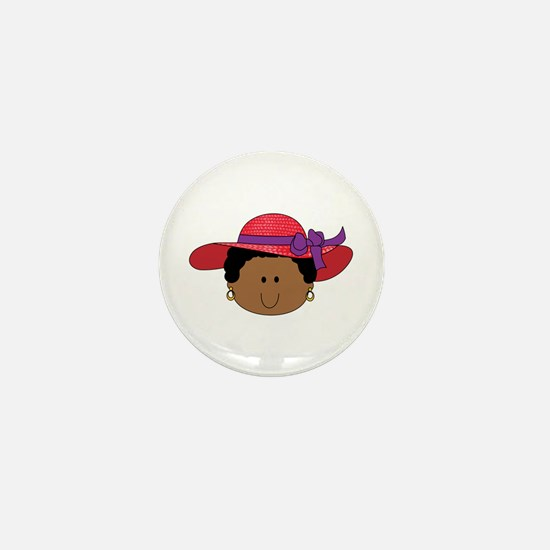 RED HAT WOMAN Mini Button