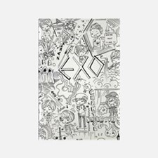 EXO Doodle Rectangle Magnet