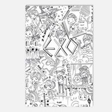 EXO Doodle Postcards (Package of 8)
