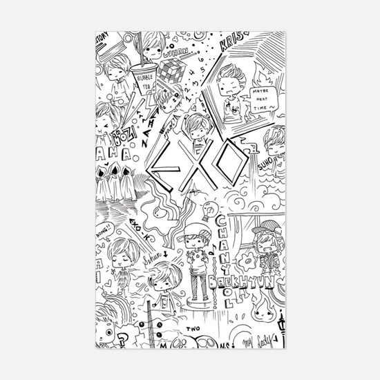 EXO Doodle Sticker Rectangle