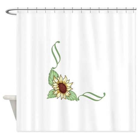 SUNFLOWER CORNER BORDER Shower Curtain by Greatnotions20