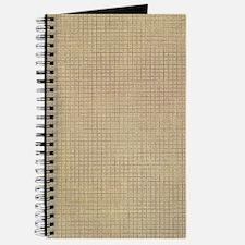 Faded Burlap Journal