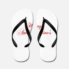 Happy Anti Valentines Day-cho red Flip Flops