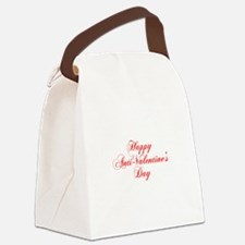 Happy Anti Valentines Day-cho red Canvas Lunch Bag