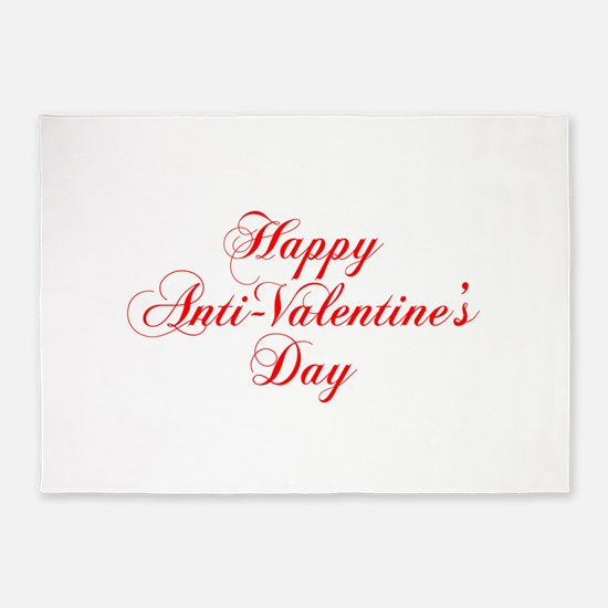 Happy Anti Valentines Day-cho red 5'x7'Area Rug
