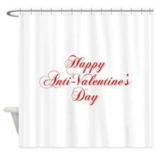Happy Anti Valentines Day-cho red Shower Curtain