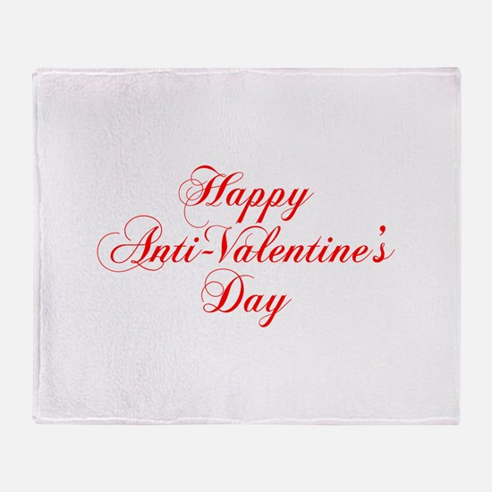 Happy Anti Valentines Day-cho red Throw Blanket