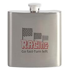 GO FAST TURN LEFT Flask