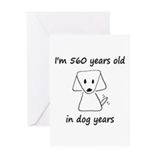 80 dog years 6 - 2 Greeting Cards