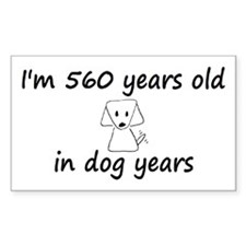 80 dog years 6 - 3 Decal