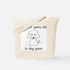 81 dog years 6 Tote Bag