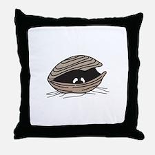 CLAM EYES Throw Pillow