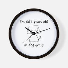 81 dog years 6 - 2 Wall Clock