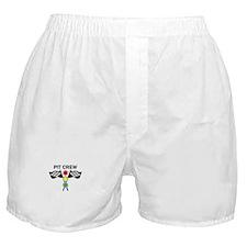 CAR RACING PIT CREW Boxer Shorts