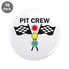 "CAR RACING PIT CREW 3.5"" Button (10 pack)"