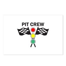CAR RACING PIT CREW Postcards (Package of 8)