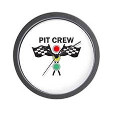 CAR RACING PIT CREW Wall Clock