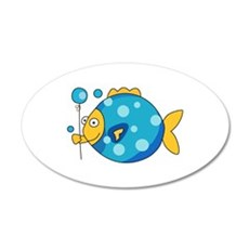 Fish With Balloon Wall Decal
