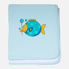 Fish With Balloon baby blanket