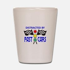 DISTRACTED BY FAST CARS Shot Glass