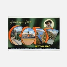 Cody Wyoming Greetings Rectangle Magnet