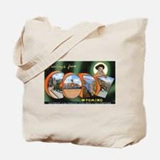Cody Wyoming Greetings Tote Bag