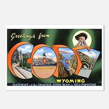 Cody Wyoming Greetings Postcards (Package of 8)