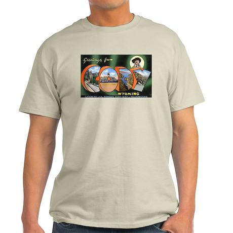 Cody Wyoming Greetings (Front) Light T-Shirt