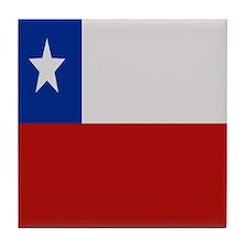 """""""Chile Flag"""" Tile Coaster"""