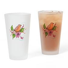 ROBIN ON BRANCH Drinking Glass
