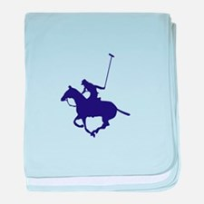 POLO PLAYER baby blanket