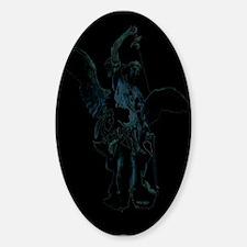 Powerful Angel Oval Decal