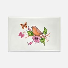 ROBIN AND BUTTERFLIES Magnets