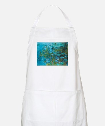 Monet Water Lilies Low Poly Light Apron