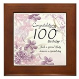 100th birthday gifts Framed Tiles