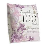 100 birthday Burlap Pillows