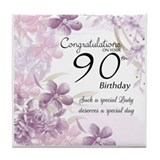 90th birthday celebration design Drink Coasters