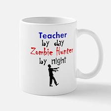 Teacher By Day Zombie Hunter By Night Mugs