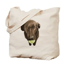 labrador retiever with a tennis ball Tote Bag