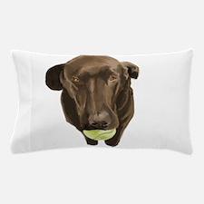 labrador retiever with a tennis ball Pillow Case