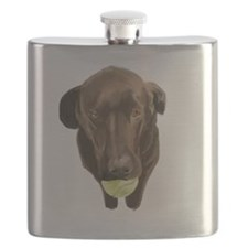 labrador retiever with a tennis ball Flask