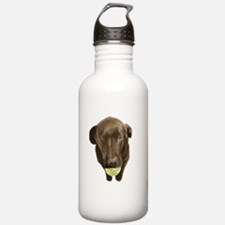 labrador retiever with a tennis ball Water Bottle