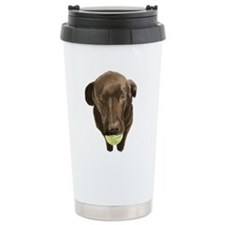labrador retiever with a tennis ball Travel Mug