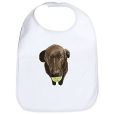 labrador retiever with a tennis ball Bib