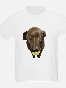 labrador retiever with a tennis ball T-Shirt