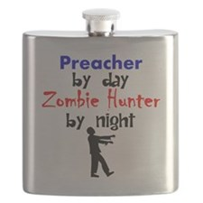 Preacher By Day Zombie Hunter By Night Flask