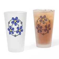Forget Me Not Flowers Drinking Glass