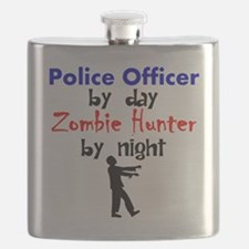 Police Officer By Day Zombie Hunter By Night Flask
