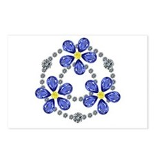 Forget Me Not Flowers Postcards (Package of 8)
