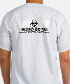 Infectious Symbol: Ash Grey T-Shirt